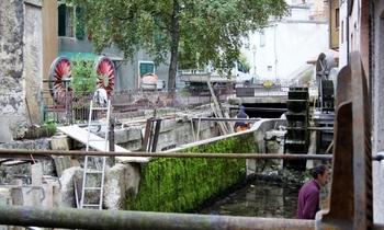 TRAVAUX SUR LE CANAL USINIER DES GRANDES FORGES